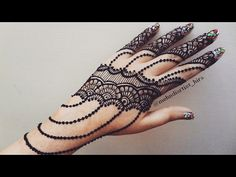 Latest Beautiful easy khaleeji arabic new gulf mehndi designs for hands tutorial for eid,diwali - YouTube