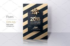 new year invitation template by creative flyer templates on creativemarket classy new year
