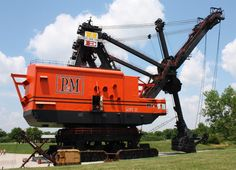 The Bucyrus-Erie 1850B, built in 1962 at a cost of $6.5 million, is also known as Big Brutus, and it certainly is big. 160 feet tall and weighing 11 million lbs, the bucket could carry 150 tons of material and not surprisingly the machine had a maximum speed of just 0.22 mph. This machine isn't the largest electric shovel ever built, but it is the largest electric shovel still in existence.
