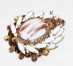 vintage milk glass jewelry - Google Search