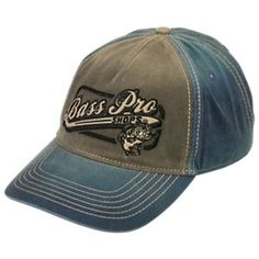 e054befd637 Bass Pro Shops Pigment-Dyed Colorblock Cap - Black Navy Color Blocking