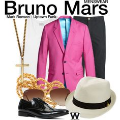 Inspired by Bruno Mars in the 2014 Mark Ronson music video for Uptown Funk.