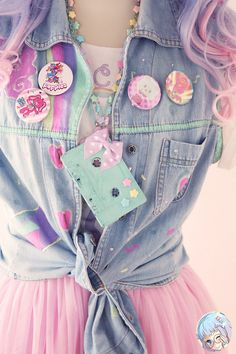 New diy ropa kawaii pastel goth ideas Estilo Goth Pastel, Estilo Lolita, Pastel Goth Fashion, Kawaii Fashion, Lolita Fashion, Cute Fashion, Asian Fashion, Pastel Goth Style, Pastel Goth Clothes