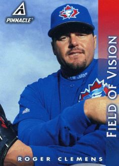 RARE 1998 PINNACLE FIELD OF VISION ROGER CLEMENS TORONTO BLUE JAYS MINT