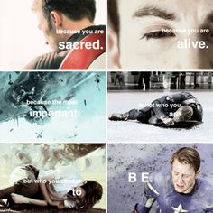 → because you are s a c r e d #marvel