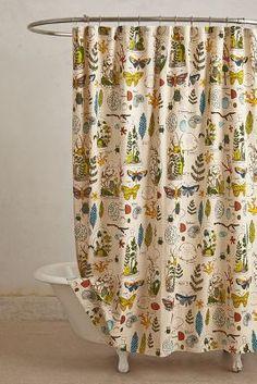 .Entomology Shower Curtain via Anthro