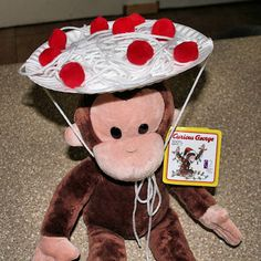 Spaghetti and Meatball Hat Craft-on top of spaghetti