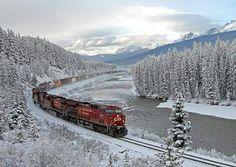 Trem e neve