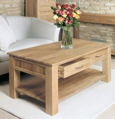 bonsoni mobel oak four drawer coffee table brand new contemporary coffee table https