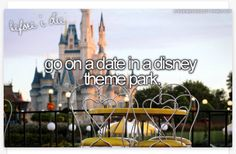 Bucket list Or even get married Or propose Or honeymoon I absolutely Luv WDW and that is a dream of mine