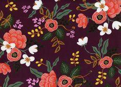 Cotton + Steel Menagerie Birch Rayon Eggplant- Staff Favorite!! Apparel Fabric