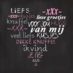 Zo'n pin ontvangen van je vriendin is toch super lief! The Words, Cool Words, Dutch Words, Words Quotes, Sayings, Dutch Quotes, Quotes About Everything, Love You, My Love