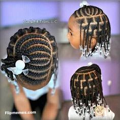 Little Girls Natural Hairstyles, Little Girl Braid Hairstyles, Toddler Braided Hairstyles, Kids Curly Hairstyles, Baby Girl Hairstyles, Beautiful Hairstyles, Natural Braided Hairstyles, Little Girl Braid Styles, Kid Braid Styles