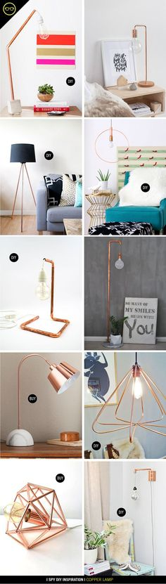 INSPIRATION | Copper Lamps | I Spy DIY | Bloglovin'