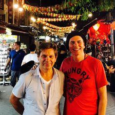 "Sept 15 2017 Duran (@duranduran) on Instagram: ""RT & JT In Chinatown Singapore  #duranduran #singaporegrandprix #papergodsontour """