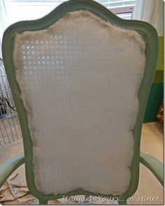 How to reupholster cane back chairs
