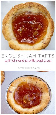 Super easy English Jam Mini Tarts! So good! Perfect for tea, parties or an easy dessert. Tea Party Desserts, Mini Desserts, Easy Desserts, Delicious Desserts, Yummy Food, Sweet Desserts, English Desserts, English Food, English Recipes