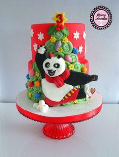 Kerst taart Kung Fu Panda