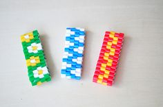 Beaded bracelets (HAMA beads) - simple instructions.