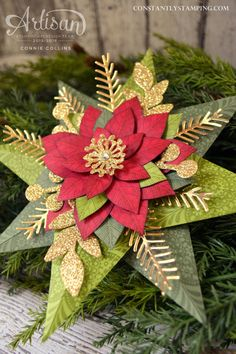 Elegant 8-Point Star tutorial by Stampin' Up! ADT member, Connie Collins