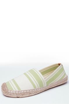 Tory Burch Striped Elastic Espadrille // Timeless espadrilles made from striped canvas and set on a jute-and-rubber sole with hand-stitiching. These classic slip-one have the perfect amount of stretch to wear all day long with your favorite bermuda shorts and a comfortable t-shirt.