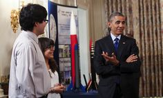 Obama hosts  the final White House Science Fair today