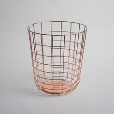 Sleek wire bin for the office, bedroom or bathroom | Designer: Norm Architects for Menu | #menuword #copper #interiordesign
