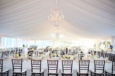 love this wedding tent liner