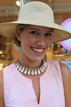 """Isis from  LA TRAFICANTE DE ZAPATOS """"The perfect lady hat by Mar Bcn!! And of course love the neckace!! Isn't it beautiful!?"""" Visit us: www.marbcnshop.com"""