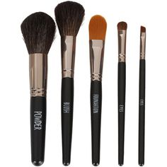 TOPSHOP Velvet Lined Make Up Brush Set ($52) ❤ liked on Polyvore