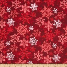 Christmas Flannel Noel Snowflake Red from @fabricdotcom  Designed for Fabri-Quilt, this double napped (brushed on both sides) flannel includes colors of red and white. Use for quilting, apparel, crafts and home decor accents.