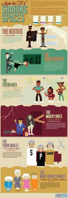 Guide to Sharing Spaces 'Made for TV' Infographic | come on, even the kitten mittens make an appearance here! It's def worth a peep!