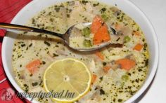 A legjobb Tejszínes, tárkonyos csirkeragu leves recept fotóval egyenesen a Receptneked. Soup Recipes, Diet Recipes, Cooking Recipes, Healthy Recipes, Hungarian Cuisine, Hungarian Recipes, Hungarian Food, Just Eat It, Soups And Stews
