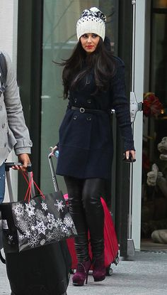 Love her winter style!...this would be my Minnesota look...<3