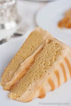 Ooey, gooey layered caramel cake- with THE most amazing caramel cream cheese icing EVER! Yummy, yummy, yummy : D