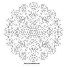 Printable Line Art Mandala Stencil Templates