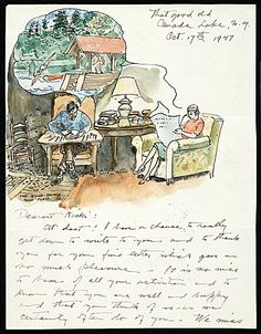 More Than Words: Illustrated Letters from the Smithsonian's Archives of American Art - Exhibitions | Archives of American Art, Smithsonian Institution