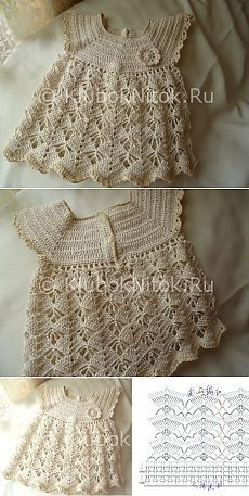 Платье для девочки | Вязание для девочек | Вязание спицами и крючком. Схемы вязания.