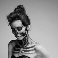 Skull MakeUp by Mademoiselle Mu - Halloween ich kommmeeeee :DD
