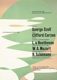 Junifestwochen Zurich, June 23, 1953 by Muller-Brockmann, Josef | Vintage Posters at International Poster Gallery