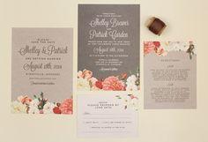Pretty wedding invites.