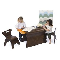 bloom Otto Chair and Table Set in Cappuccino $450