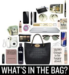 """""""What´s in my bag?"""" by wildeemely ❤ liked on Polyvore"""