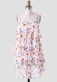 Veranda Floral Tiered Dress