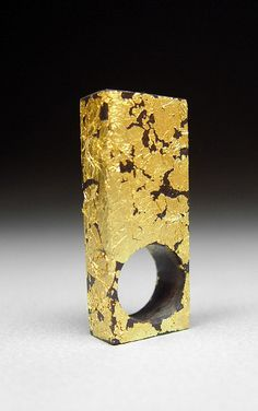 Arthur Hash, Cast Polyurethane Resin and Gold Leaf Ring