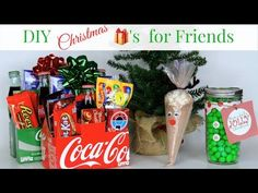 Easy and cheap DIY Christmas gifts for friends.    #Brooklynandbailey #DIY #christmasgifts #friendgifts