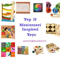 Smiling like Sunshine: Top 10 Montessori Inspired Toys  #Gift