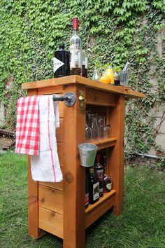 diy outdoor bar via storefront life. i love how compact and ... - Diy Patio Bar Ideas