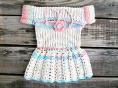 baby girl crochet dress with bolero  Free Domestic by LoopIt, $48.00