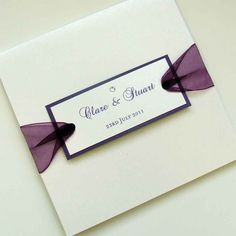Pocketfold Wedding Invitation with Ribbon